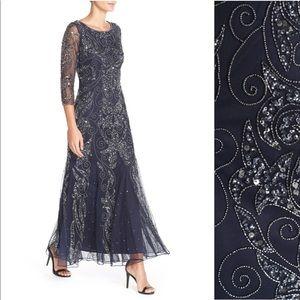 Pisarro Nights Dark Blue Embellished Gown